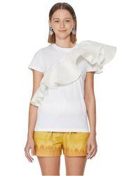 Marques'Almeida T-shirt à volants en coton - Blanc