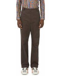 Boramy Viguier Pantalon en toile épaisse - Marron