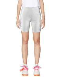 Area Sequin Cycling Shorts - Metallic