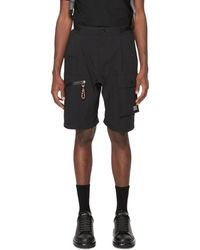Burberry Cargo Cotton Blend Shorts - Black