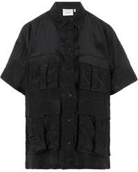 Gestuz Oversize Short-sleeved Shirt - Black