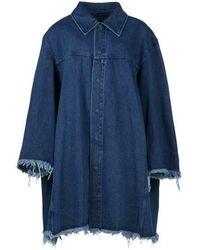 Marques'Almeida Veste en jean oversize - Bleu