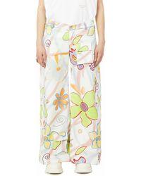 Collina Strada Flower Power Cargo Trousers - Multicolour