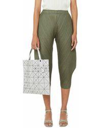 Issey Miyake Pantalon plissé - Vert