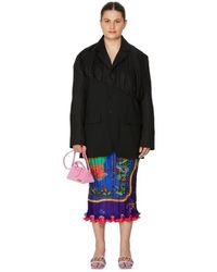 Gauchère Veste Sakura en laine mélangée - Noir