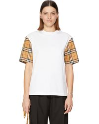 Burberry - Vintage Check Long-sleeve Cotton T-shirt - Lyst