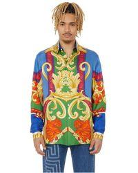 Versace Chemise à imprimé Medusa Renaissance en soie - Multicolore