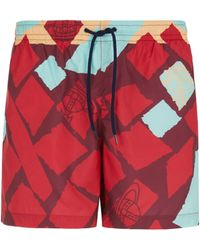 Vivienne Westwood Printed Swim Shorts - Red