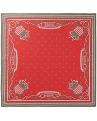 Phipps Printed Cotton Bandana Scarf - Red