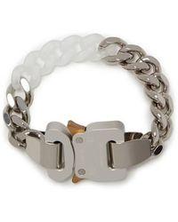 1017 ALYX 9SM Bracelet en laiton et acrylique - Métallisé