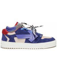 Off-White c/o Virgil Abloh - Off Court Low-top Leather-blend Sneakers - Lyst