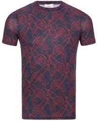 Vivienne Westwood T-shirt imprimé en coton - Bleu