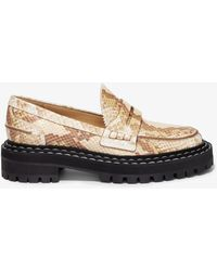 Proenza Schouler Python Lug Sole Loafers - Brown
