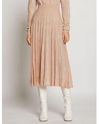 Proenza Schouler Woodgrain Jacquard Knit Skirt - Pink