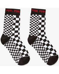 Proenza Schouler Pswl Checkered Socks - Black