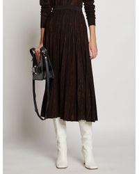 Proenza Schouler Woodgrain Jacquard Knit Skirt - Black