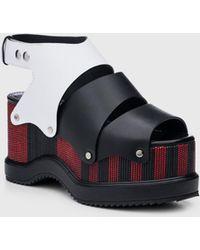 Proenza Schouler Flatform Sandal - Black