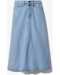 PROENZA SCHOULER WHITE LABEL Bleached Denim Skirt - Blue