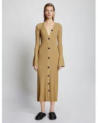 Proenza Schouler - Rib Knit Cardigan Dress - Lyst
