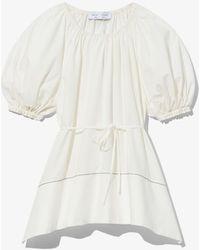 PROENZA SCHOULER WHITE LABEL Puff Sleeve Poplin Top - White