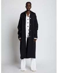 Proenza Schouler Nylon Gabardine Trench Coat - Black