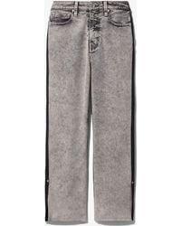 Proenza Schouler Pswl Colour-block Cropped Jeans - Grey