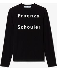 PROENZA SCHOULER WHITE LABEL Logo Long Sleeve T-shirt - Black