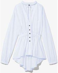 PROENZA SCHOULER WHITE LABEL Cotton Shirting Top - White