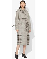 Proenza Schouler Windowpane Belted Trench - Multicolour