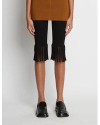 Proenza Schouler Textured Knit Fringe Bike Shorts - Black