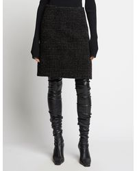 Proenza Schouler Plaid Wool Skirt - Black