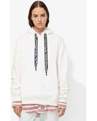 Proenza Schouler French Cotton-terry Hoodie White