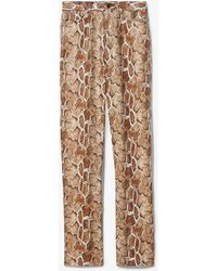 PROENZA SCHOULER WHITE LABEL Faux Snakeskin Trousers - Multicolour