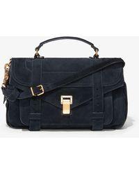 Proenza Schouler Suede Ps1 Medium Bag - Blue