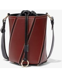 Proenza Schouler Small Drawstring Hex Bucket Bag - Brown