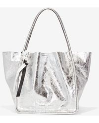 Proenza Schouler - Extra Large Metallic Leather Tote - Metallic - Lyst