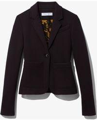 PROENZA SCHOULER WHITE LABEL Jersey Suiting Blazer - Black