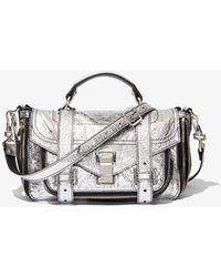 Proenza Schouler Ps1+ Tiny Zip Bag - Metallic