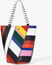 Proenza Schouler Patchwork Medium Hex Bucket Bag - White