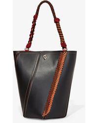 Proenza Schouler Bungee Crochet Medium Hex Bucket Bag - Black