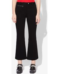 Proenza Schouler Crop Flare Pants - Black