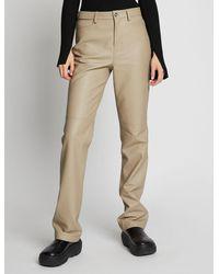 PROENZA SCHOULER WHITE LABEL Straight-leg Leather Pants - Brown