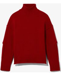 PROENZA SCHOULER WHITE LABEL Wool Cashmere Turtleneck Jumper - Red