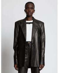 Proenza Schouler Leather Blazer - Black