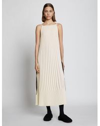 PROENZA SCHOULER WHITE LABEL Crepe Pleated Slip Dress - White