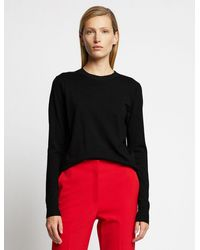 Proenza Schouler Lightweight Merino Crewneck Sweater - Black