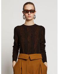 Proenza Schouler Woodgrain Jacquard Knit Top - Brown