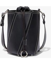 Proenza Schouler Small Drawstring Hex Bucket Bag - Black