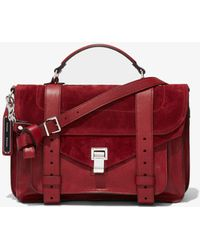 Proenza Schouler Leather Suede Ps1 Medium - Red