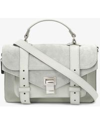 Proenza Schouler Leather Suede Ps1 Tiny - Gray